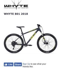 Whyte 801 2018 4 weeks old