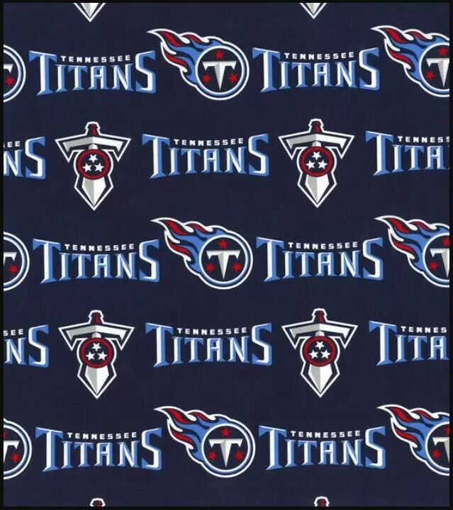 NFL TENNESSEE TITANS FOOTBALL - LOGO 100% Cotton Fabric 1/4
