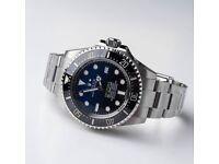 Swiss ETA movement blue and black deepsea luxury watch for sale!!