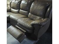 Leather recliner sofa & arm chair