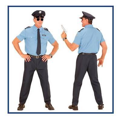 Polizist Kostüm Herren Polizei Schlagstock Karneval Fasching Mottoparty , (K)