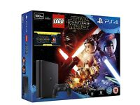 PS4 Slim 500GB Console,LEGO Star Wars Force Awakens video game .Blu-ray of Star Wars