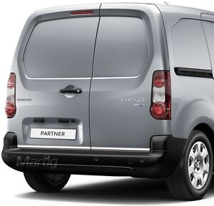 Peugeot Partner 08- CHROME Rear Trim Strip Trunk Tuning Tailgate 3M Garnish - Bogumilowice, Polska - Zwroty są przyjmowane - Bogumilowice, Polska