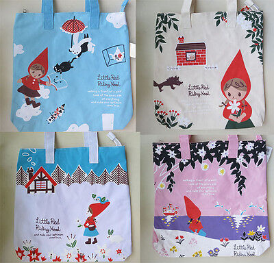 NWT Little Red Riding Hood Canvas Tote Kids Handbags Purses Cute Shoulder Bag ](Red Riding Hood Purse)
