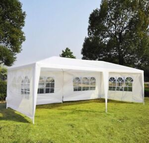 10 x 20 Large White Party Tent Wedding Canopy - removable walls