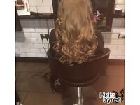 LA Weave & Micro Ring Weft hair extensions application