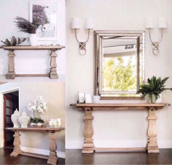 NEW HARDWOOD FRENCH PROVINCIAL HAMPTONS STYLE HALL SOFA CONSOLE TABLE!