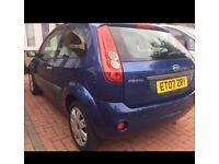 FORD FIESTA 1.2 2007 ROYAL BLUE FULL SERVICE HISTORY LOW MILEAGE