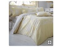 Dorma yellow king size duvet cover, bedspread and curtains!