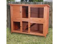 Large two floor rabbit cage and cover