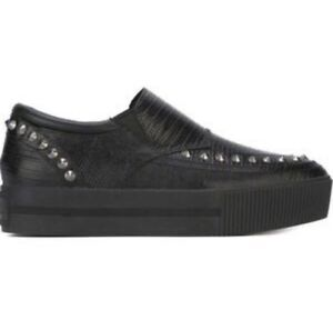 ASH Studded Leather Slip-On Creepers Punk Shoes Sz 10