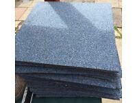 """60 blue carpet tiles 50"""" x 50"""""""
