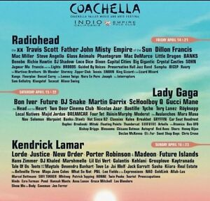 Coachella weekend 1 GA with SHUTTLE pass (x2 tickets)