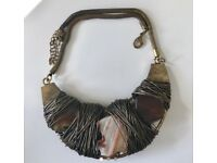 Wire & Stone Statement Necklace