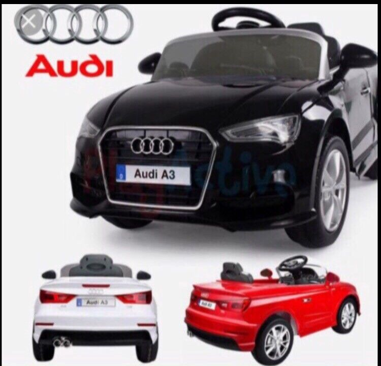 KIDS LICENSED AUDI A3 RIDE ON CAR 12V REMOTE CONTROL & MUSIC ONLY £125