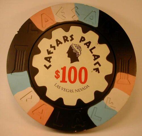 "HUGE 12"" Chip Rare Old CAESARS PALACE Las Vegas $100 DISPLAY Casino Advertising"