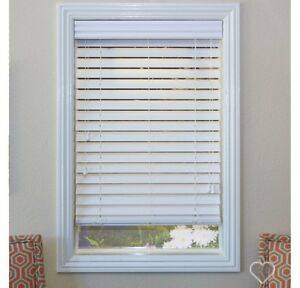 Brand new - set of 2 white faux wood blinds