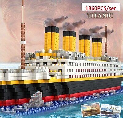 New 1860Pcs Movie TITANIC Ship/Nano Nano Block Diamond Building EDC Toys Gifts