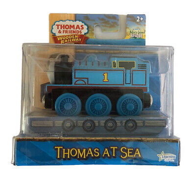 Wooden Railway Thomas at Sea & Raft Train**Special Edition ** 2010**NEW IN BOX!