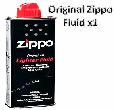 Original Genuine New 125ml Zippo Lighter Fluid Petrol Refill Fuel x1 pc