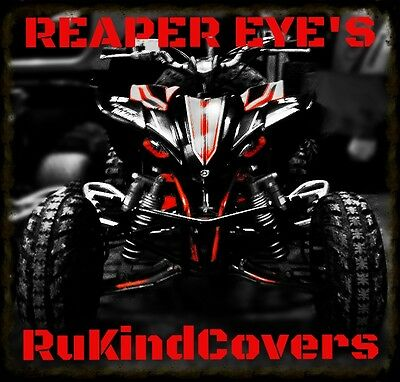 06- 18 YAMAHA RAPTOR REAPER Head Light Covers ALL YEARS