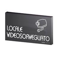 Segnaletica Locale Video Sorvegliato Cm 8x15 In Pvc Pittogrammi Prof -  - ebay.it