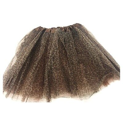 Brown Leopard Print Long Elastic TUTU Perfect for Dance or Cat Halloween - Cat Dance Kostüm
