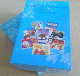 40 humours Xmas cards 2 boxes