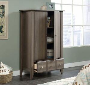 Wardrobe Armoire Storage Cabinet Closet Clothes Organizer Rustic Bedroom Tall