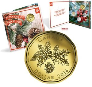 Canada 2016 Holiday 5 Coin Gift Set  with Peace & Joy Loonie