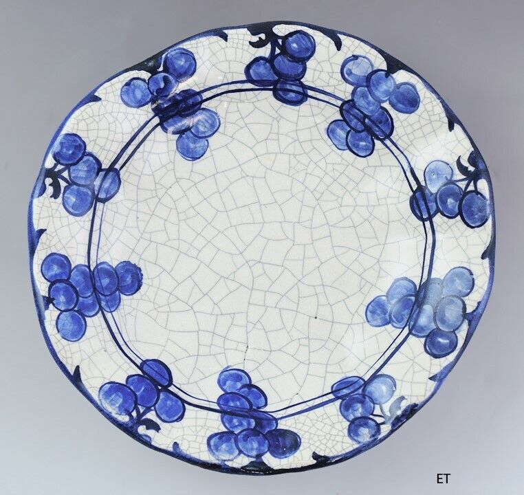 c1929-1943 Nice Dedham Pottery Grape Cluster Bowl