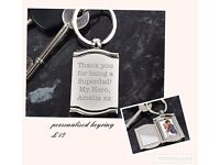 PERSONALISED KEYRING GREAT FATHERS DAY GIFT ,