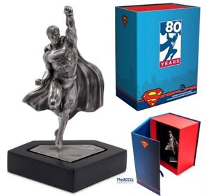 SUPERMAN'S 80TH ANNIVERSARY 150 Grams Silver Miniature Statue