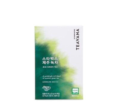 [STARBUCKS] TEAVANA Korea Teavana Jeju green tea 3g X 15ea Made in  KOREA
