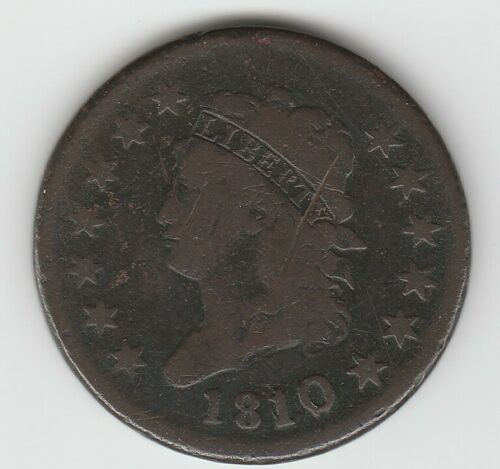 1810/09 1810 Overdate Very Good VG Classic Head US Large Cent 1C