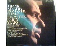 frank sinatra,vinyl record,lp,romantic songs from my early years.