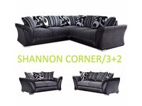 3+2 / corner shannon black / grey sofa / sofas delivery thursday call us now