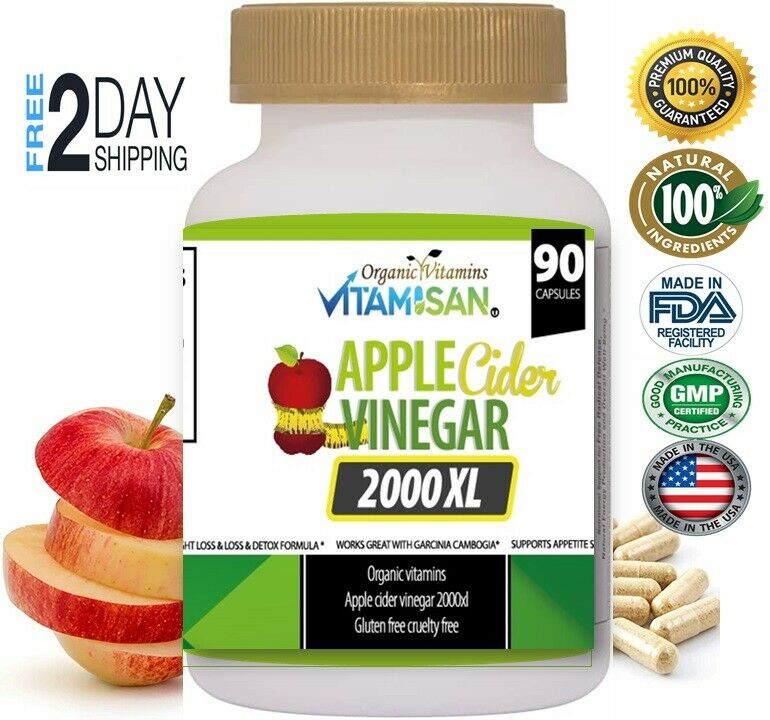 Body Detox & Cleanse w/ Apple Cider Detox Health and Weight Loss Aid, 3-Pack 270 1