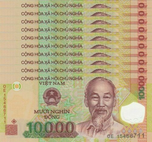 100 000 Vietnam Dong ( 10 000 x 10 pcs ) - VND banknotes Uncriculated Condition