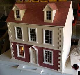 Georgian styled wooden dolls house
