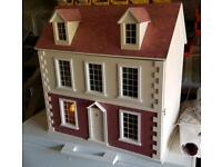 Georgian styled wooden dolls house