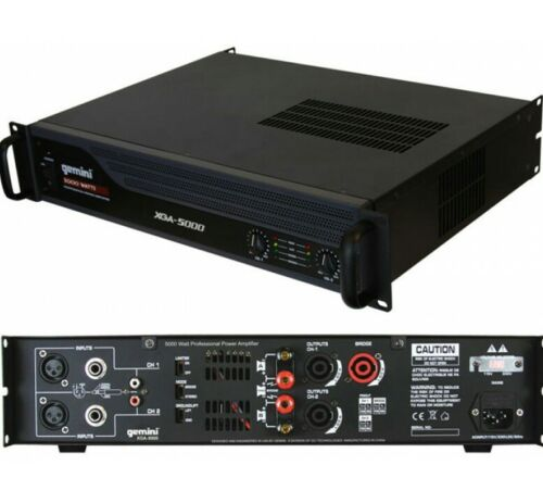 Gemini XGA-5000 5000W Watt Peak DJ Club Studio Amplifier Power Amp 2U - New