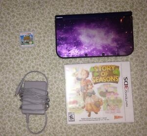 Nintendo 3DS Galaxy Edition XL w/ charger and two games