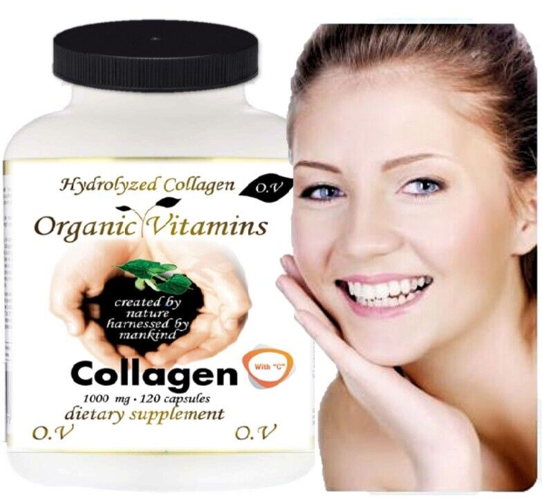 HYDROLYZED COLLAGEN POWDER CAPS PROTEIN Healthy Bones Joints Hair Skin Nails 120