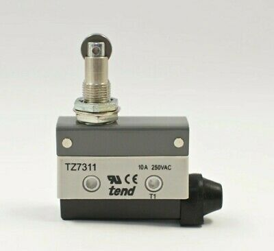 Tend Tz-7311 Horizontal Limit Switch Panel Mount Roller Plunger 10a 250vac