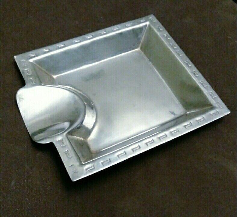 Vintage PERU Sterling Silver 925 tobacco pipe holder Ash Tray