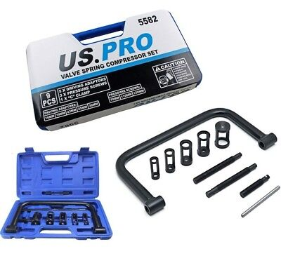 ENGINE VALVE SPRING COMPRESSOR by US PRO TOOLS Universal Fitting Petrol & Diesel
