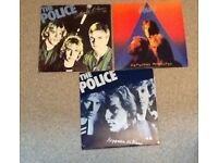 POLICE VINYL X 3 JOB LOT .VERY EARLY RELEASES