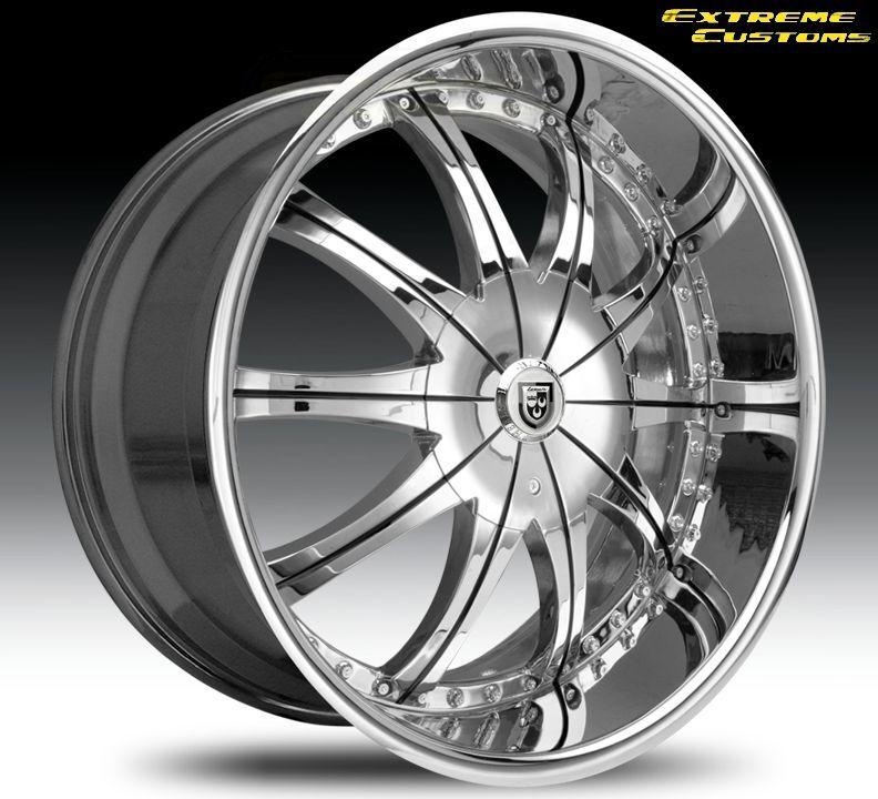 CS 2 Land Range Rover Chrysler 300 or C AWD Wheels Rims Chrome