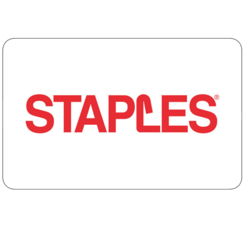 Staples Gift Card $25 $50 $100 - Email delivery